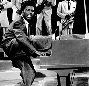 Little Richard going crazy by the piano