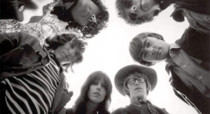 Band portrait of Jefferson Airplane who was a part of the Woodstock Festival 1969.