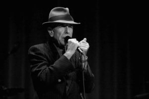 Leonard Cohen in his classic outfit