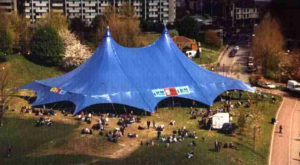 The concert tent for Radiohead