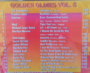 What is Sabrina doing on this compilation of oldies?